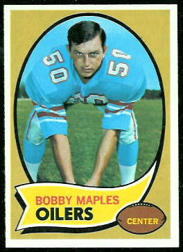 Bobby Maples 1970 Topps football card
