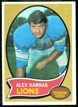 Alex Karras 1970 Topps football card