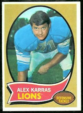 Alex Karras 1970 Topps football card