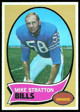 Mike Stratton 1970 Topps football card