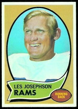 Les Josephson 1970 Topps football card