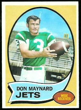 Don Maynard 1970 Topps football card