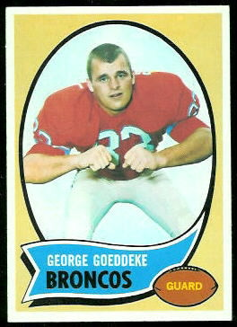 George Goeddeke 1970 Topps football card