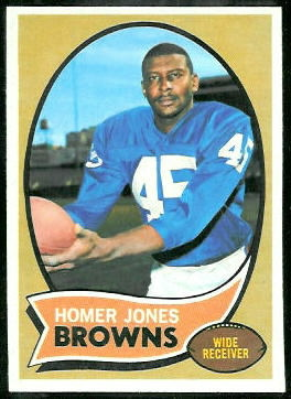 Homer Jones 1970 Topps football card