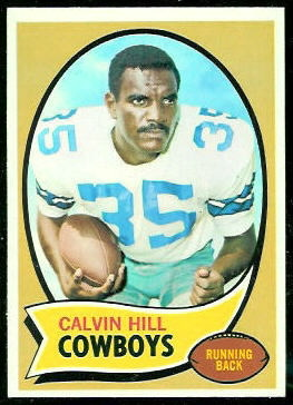 Calvin Hill 1970 Topps football card