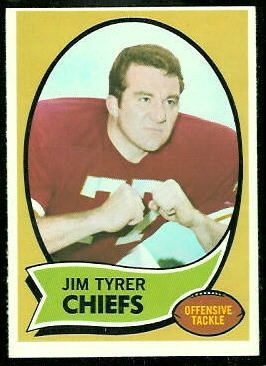 Jim Tyrer 1970 Topps football card