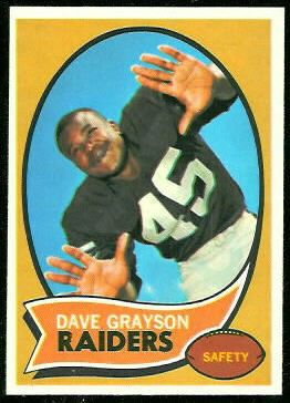 Dave Grayson 1970 Topps football card