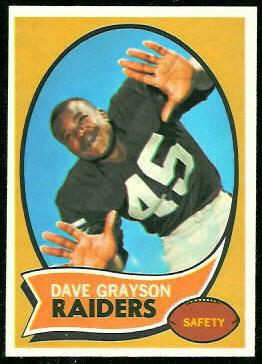 Dave Grayson 1970 Topps football card