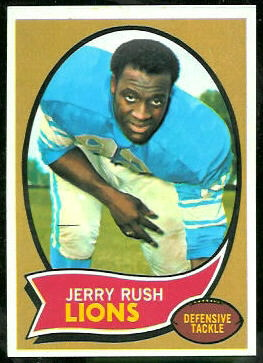 Jerry Rush 1970 Topps football card