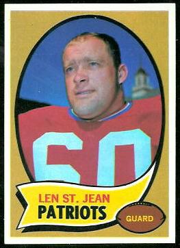Len St. Jean 1970 Topps football card