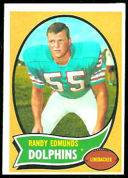 Randy Edmunds 1970 Topps football card