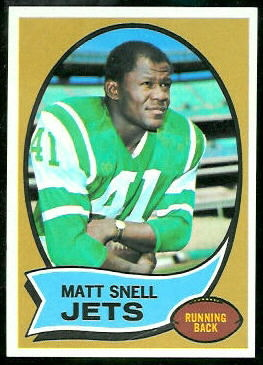 Matt Snell 1970 Topps football card