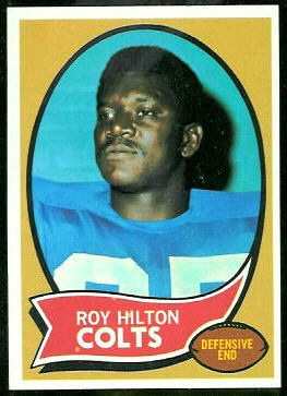 Roy Hilton 1970 Topps football card