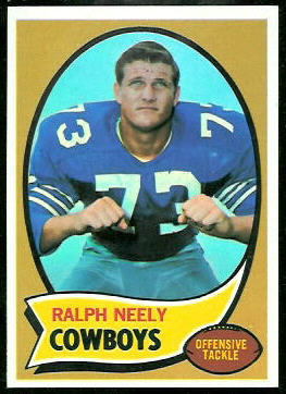 Ralph Neely 1970 Topps football card