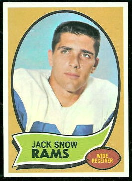 Jack Snow 1970 Topps football card