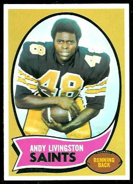 Andy Livingston 1970 Topps football card