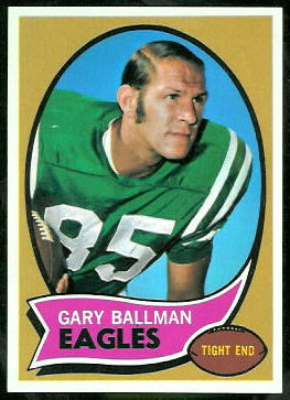 Gary Ballman 1970 Topps football card