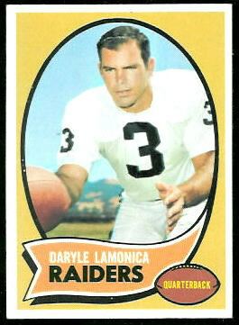 Daryle Lamonica 1970 Topps football card