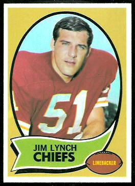 Jim Lynch 1970 Topps football card