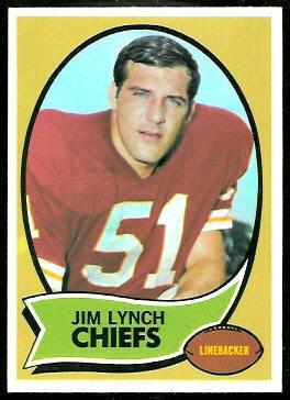 Jim Lynch 1970 Topps football card