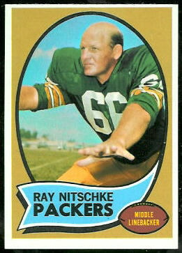 Ray Nitschke 1970 Topps football card