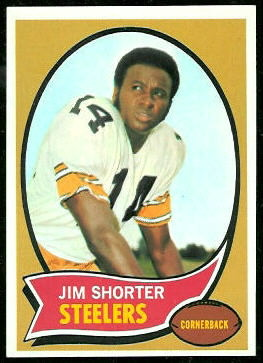 Jim Shorter 1970 Topps football card