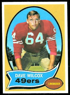 Dave Wilcox 1970 Topps football card
