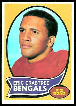 Eric Crabtree 1970 Topps football card