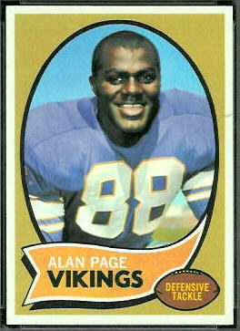 Alan Page 1970 Topps football card