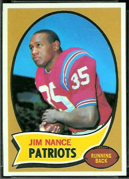 Jim Nance 1970 Topps football card