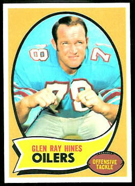 Glen Ray Hines 1970 Topps football card