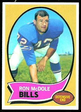 Ron McDole 1970 Topps football card