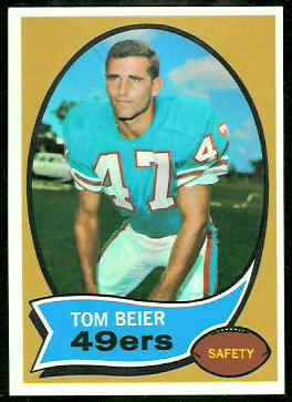 Tom Beier 1970 Topps football card