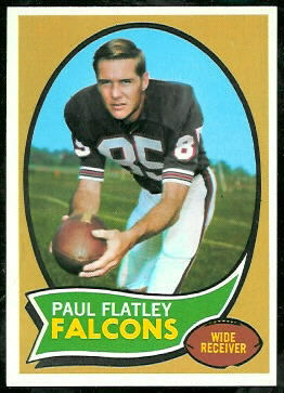 Paul Flatley 1970 Topps football card