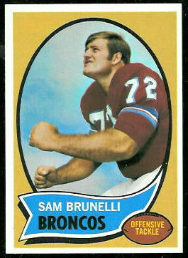 Sam Brunelli 1970 Topps football card