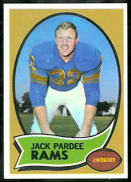 Jack Pardee 1970 Topps football card