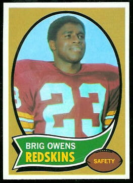 Brig Owens 1970 Topps football card