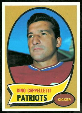 Gino Cappelletti 1970 Topps football card
