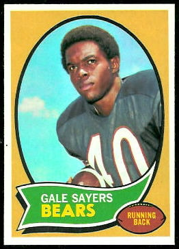 Gale Sayers 1970 Topps football card
