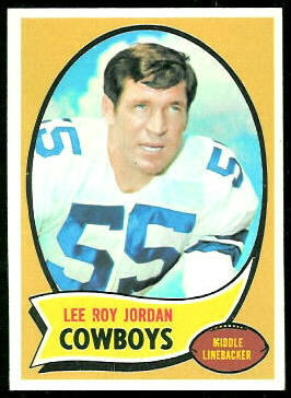 Lee Roy Jordan 1970 Topps football card