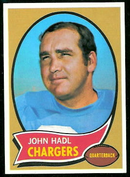John Hadl 1970 Topps football card