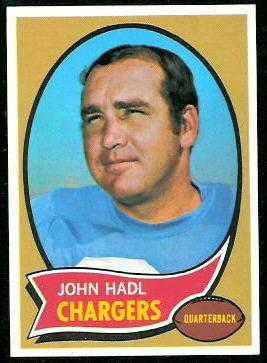 John Hadl 1970 Topps football card