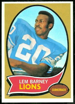 Lem Barney 1970 Topps football card
