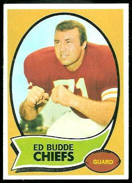 Ed Budde 1970 Topps football card