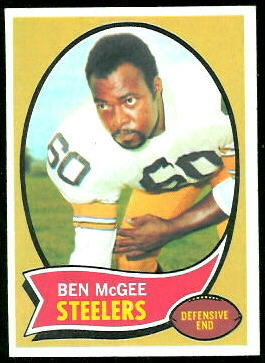 Ben McGee 1970 Topps football card