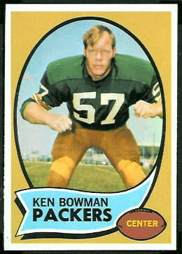 Ken Bowman 1970 Topps football card