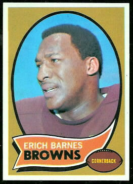 Erich Barnes 1970 Topps football card