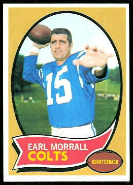 Earl Morrall 1970 Topps football card