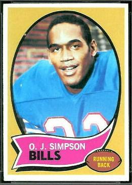 O.J. Simpson 1970 Topps football card
