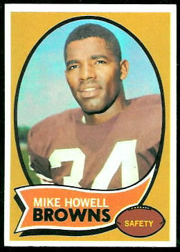 Mike Howell 1970 Topps football card